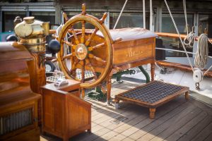 1877 Tall Ship ELISSA Ship Wheel