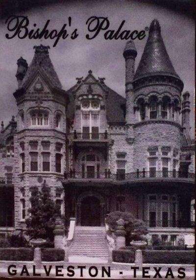 Bishop's Palace Black & White Magnet