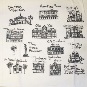 Cityscape Tea Towel