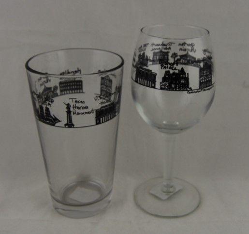 Cityscape Pub Glass