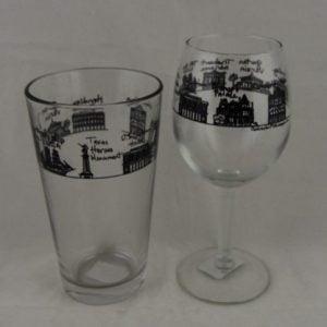 Cityscape Wine Glass