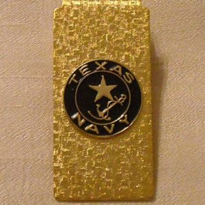 Texas Navy Logo Money Clip