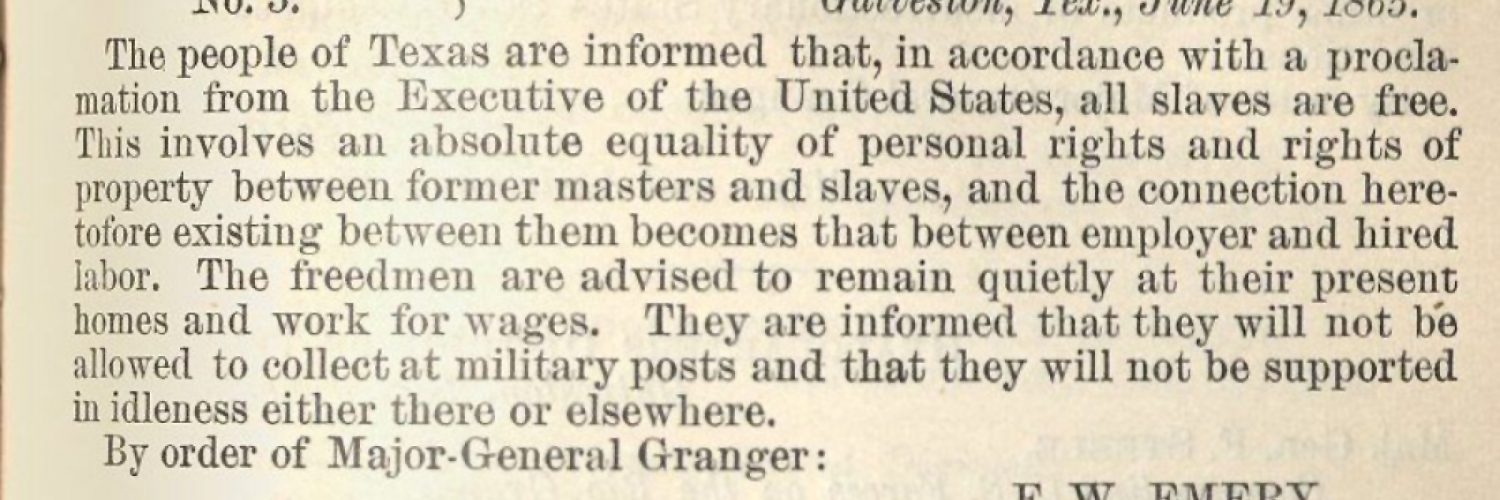 Juneteenth and General Order No. 3